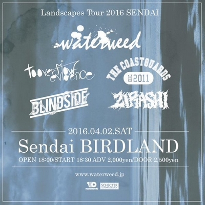 waterweed「Landscapes Tour 2016」